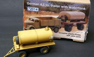 German 4,5to. Trailer with Watertank