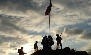 Iwo Jima – rising of the first flag