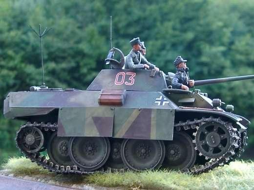 1 600 German Vk 1602 Leopard Light Tank X10 Printed Render Showing