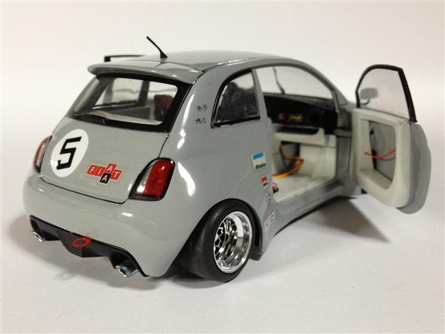 nuova fiat 500 abarth racing mondo motors 1 24 von maurizio giacalone. Black Bedroom Furniture Sets. Home Design Ideas