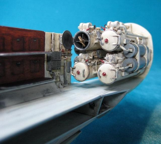 U boot typ vii c revell 1 72 von frank dargies for Interieur u boat
