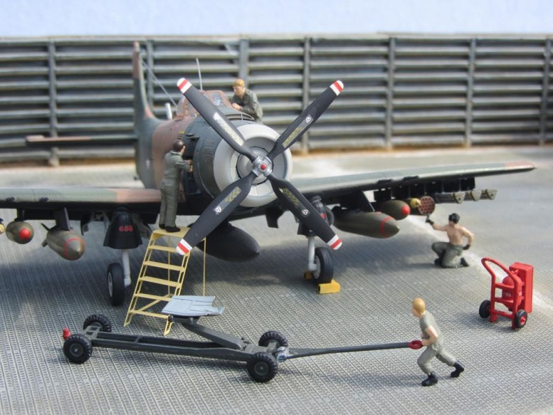 A-1H Skyraider maintenance and ground crew