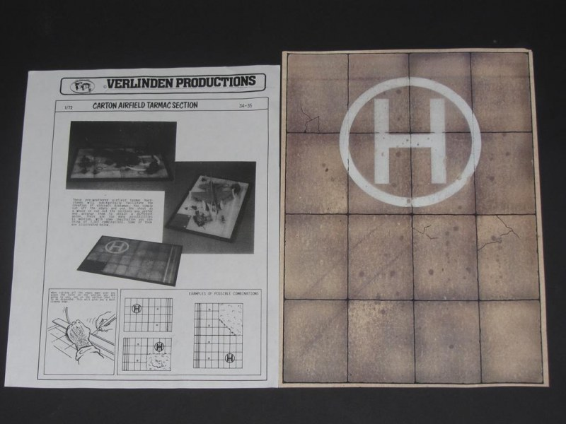 DIN A4 VERLINDEN PRODUCTIONS '34-35 Carton airfield tarmac section'