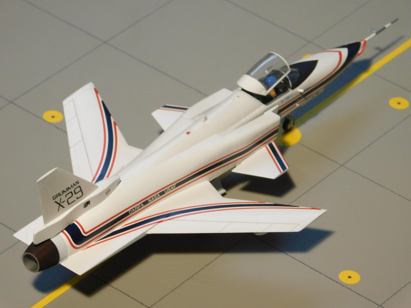 Heckansicht Grumman X-29A ATD ( Advanced Technology Demonstrator )
