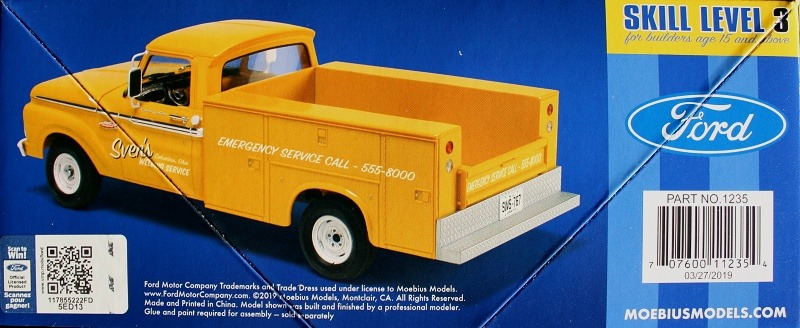 Moebius Models - 1965 Ford F-100 Service Truck