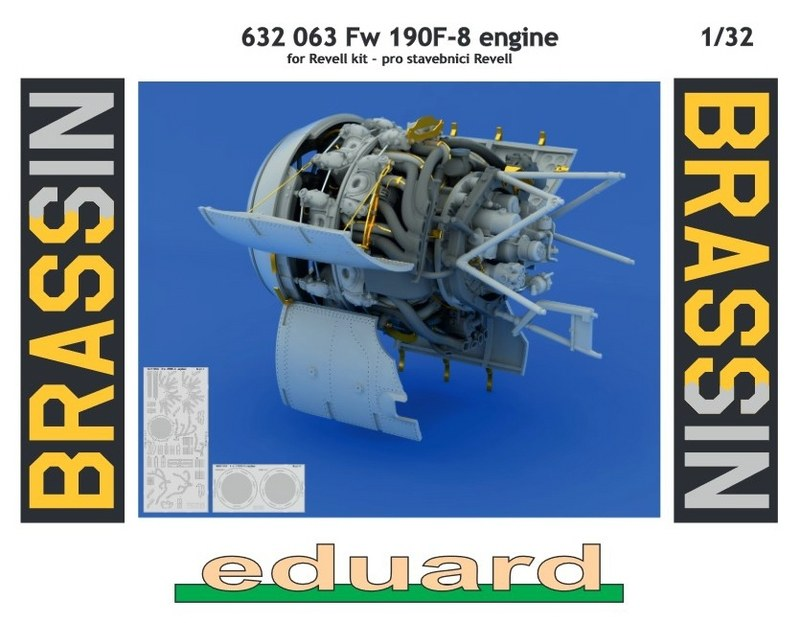 N Eduard Accessories 632063-1:32 Fw 190F-8 Engine For Revell Resin Bausatz