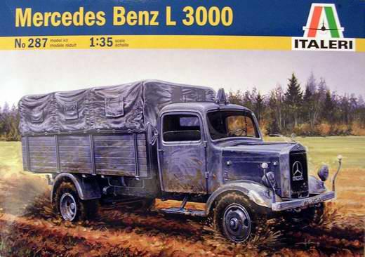 Mercedes benz l 3000 italeri nr 287 modellversium kit ecke for Mercedes benz under 3000