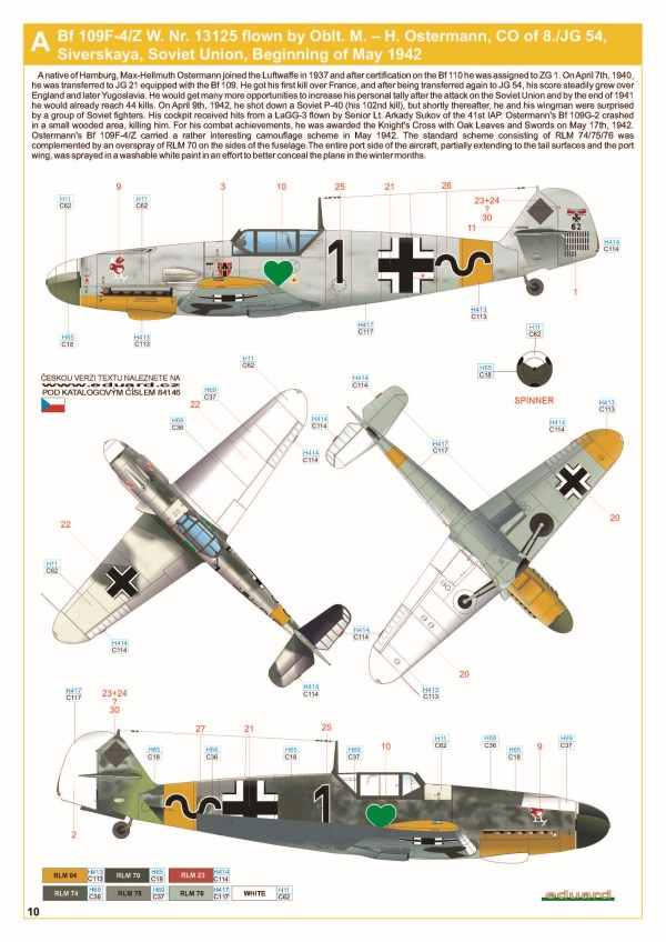 Eduard - Messerschmitt Bf 109F-4 Weekend Edition