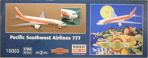 "Minicraft Model Kits - MINICRAFT ""Flights of Fancy"" -  Pacific Southwest Airlines 777 ""SMILING FACE"""
