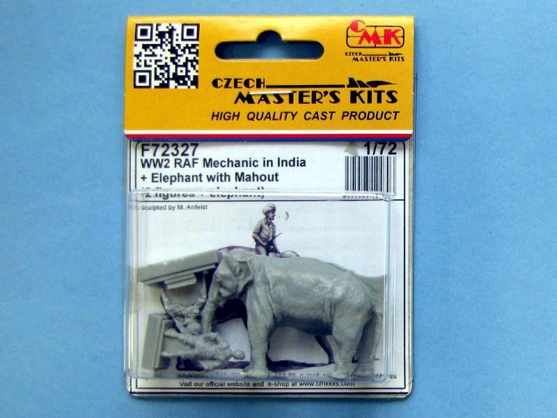 CMK F72327 WWII RAF Mechanic /& Elephant w//Mahout in India in 1:72