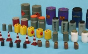 Modern Oil/chemical Drums and Canisters Set