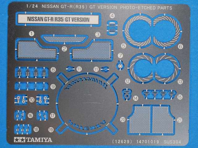 Tamiya - Nissan GT-R (R35) GT Version Photo Etched Parts Set