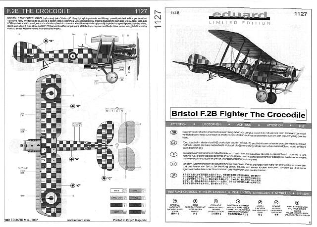 Eduard - Bristol F.2B Fighter The Crocodile