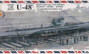 U-48 DKM U-boat Type VII B with Dock