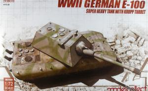 : WWII German E-100 Super Heavy Tank With Krupp Turret