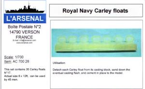 Royal Navy Carley floats