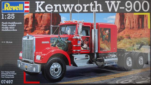 kenworth w 900 revell nr 07497 modellversium kit ecke. Black Bedroom Furniture Sets. Home Design Ideas