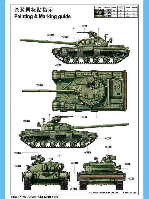 Soviet T-64 Mod 1972, Trumpeter Nr. 01578 - Modellversium Kit-Ecke
