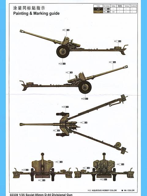 Soviet 85mm D-44 Divisional Gun, Trumpeter Nr. 02339 - Modellversium ...
