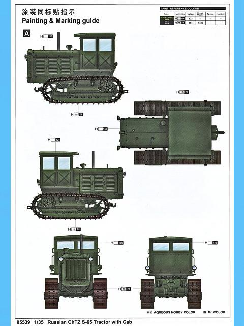 Russsian ChTZ S-65 Tractor with Cab, Trumpeter Nr. 05539 ...
