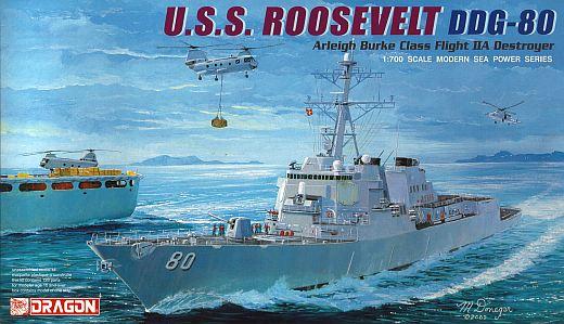 USS Roosevelt DDG-80 Arleigh Burke Zerstörer 1:700 Model Kit Bausatz Dragon 7039