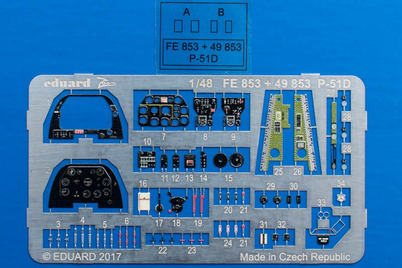 Eduard - P-51D Detail Sets Teil 1