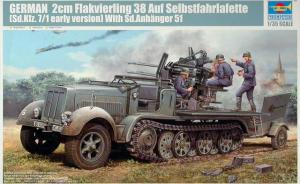 German 2cm Flakvierling 38 auf Sd.Kfz. 7/1 (early Version)