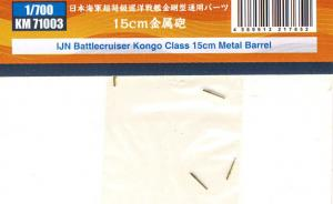 Bausatz: IJN Battlecruiser Kongo Class 15cm Metal Barrel