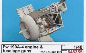 Fw 190A-4 engine & fuselage guns