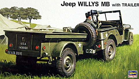 willy s jeep mb with trailer hasegawa nr 20221. Black Bedroom Furniture Sets. Home Design Ideas
