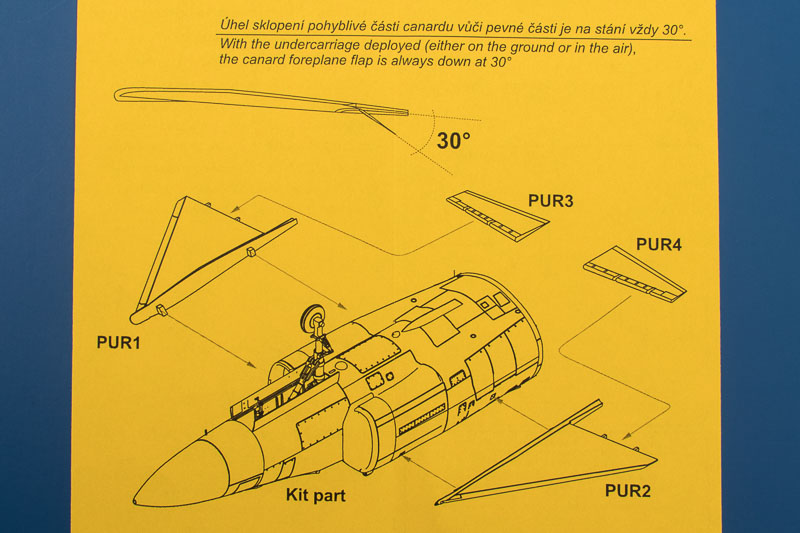 AJ/SF/SH-37 Viggen Canard correction set