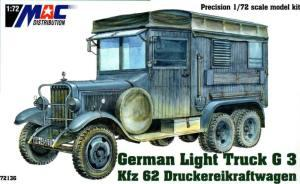 : German Light Truck G 3 Kfz 62 Druckereikraftwagen