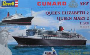 Cunard Set - Queen Mary 2 - Queen Elisabeth 2