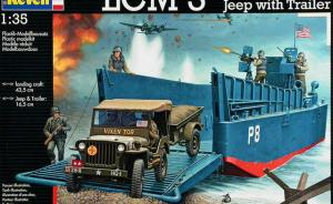 LCM 3 / 50ft landing craft & Jeep with Trailer