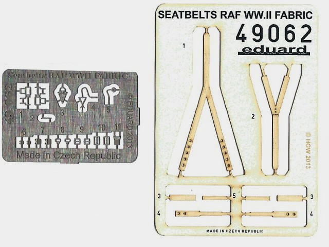 Eduard - Seatbelts RAF WWII fabric