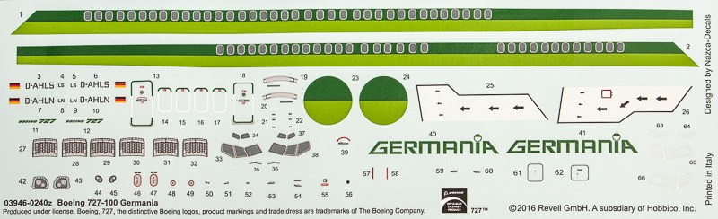 Revell - Boeing 727-100 Germania