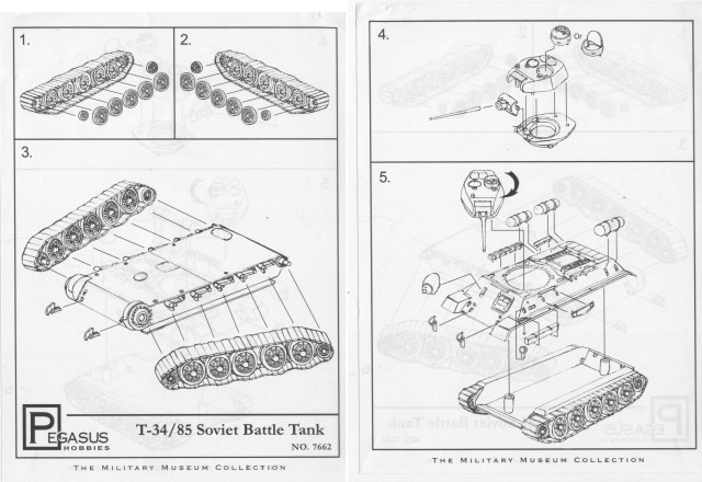 Pegasus Hobbies - T-34/85 Soviet Battle Tank