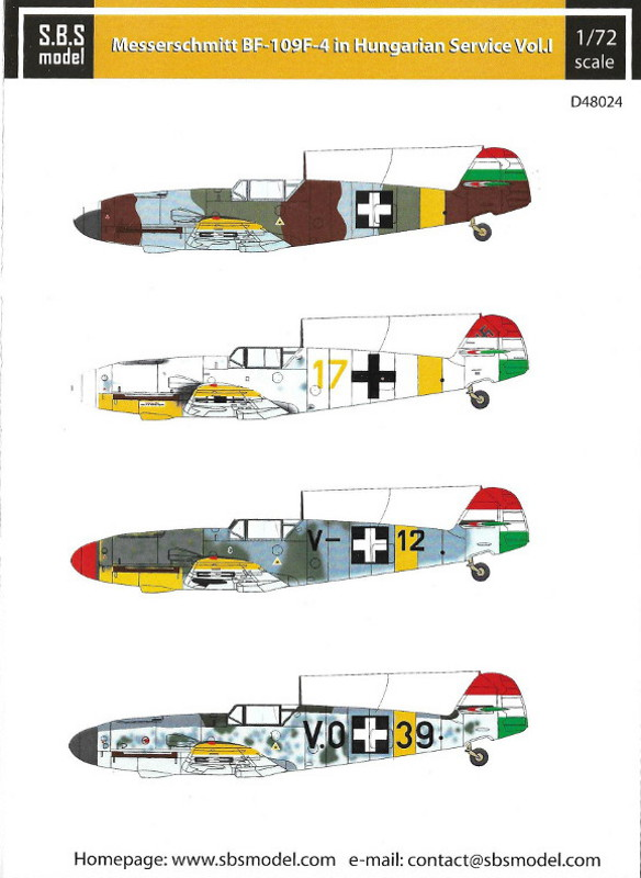 Messerschmitt BF-109F-4 in Hungarian Service Vol.I