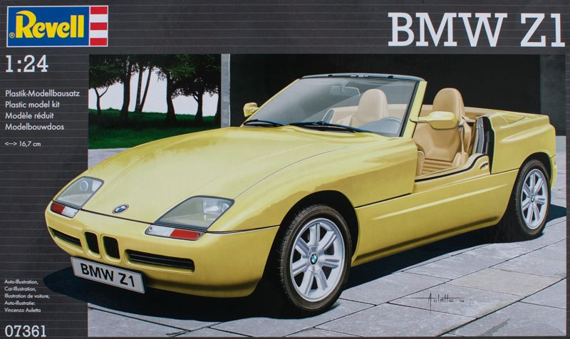 bmw z1 revell nr 07361 modellversium kit ecke. Black Bedroom Furniture Sets. Home Design Ideas