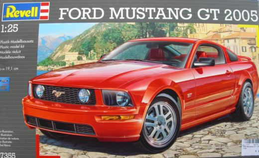ford mustang gt 2005 revell nr 07355 modellversium kit. Black Bedroom Furniture Sets. Home Design Ideas