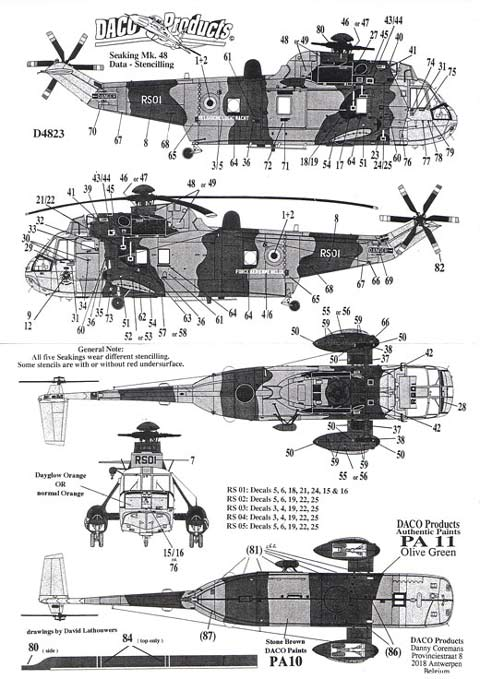 Daco Products - Seaking Mk. 48 Data - Stencilling