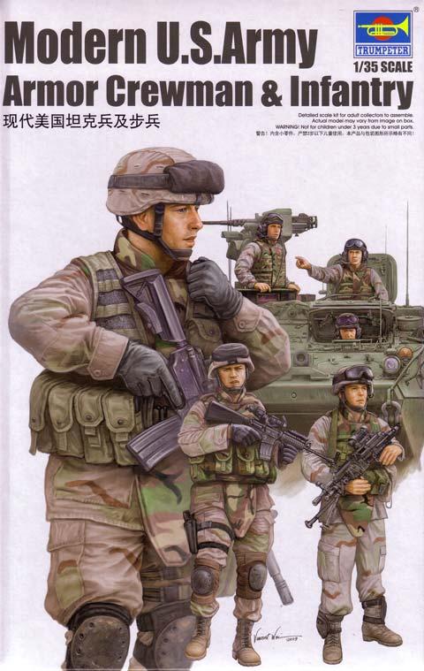Trumpeter modern u s army armor crewman infantry