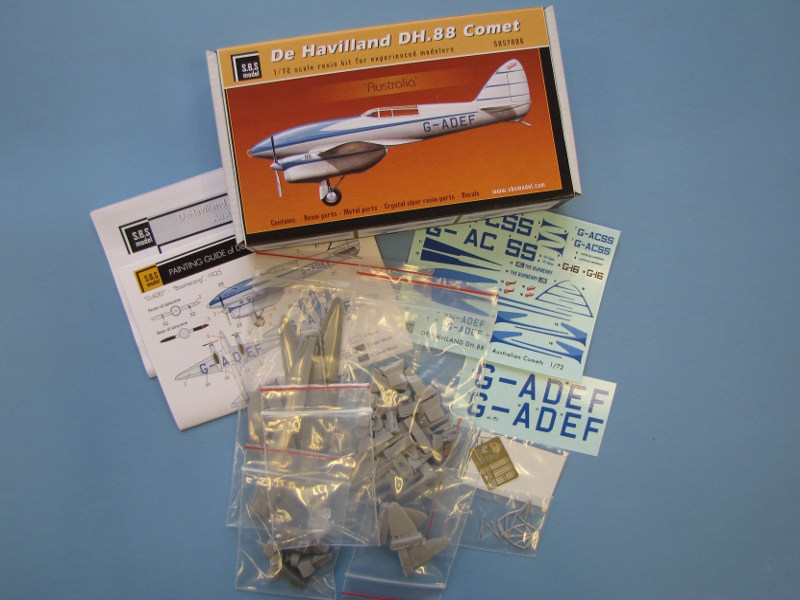 S.B.S Model - De Havilland DH.88 Comet Australia