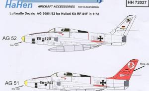 Luftwaffe Decals AG 50/51/52 RF-84F