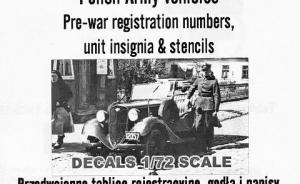 Polish Army vehicles Pre-war registration number...