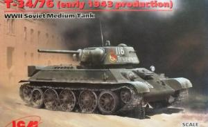 Detailset: WWII Soviet Medium Tank T-34/76 (early 1943 production)