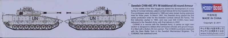 HobbyBoss - Swedish CV90-40C IFV/w Additional All-round Armour