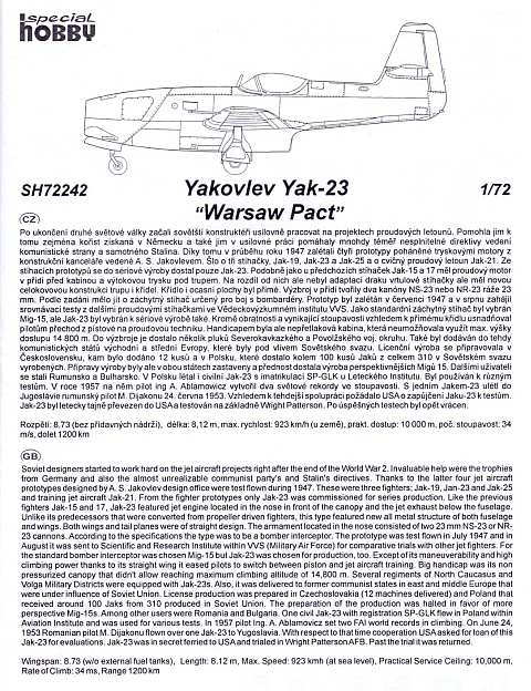 Special Hobby - Yakovlev Yak-23 Flora (Warsaw Pact)