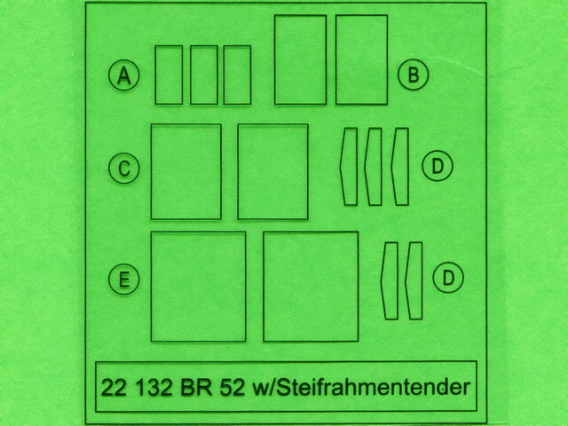 br 52 w steifrahmentender part 1 eduard nr 22132 modellversium kit ecke. Black Bedroom Furniture Sets. Home Design Ideas