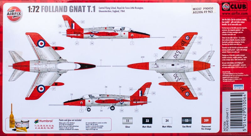 Airfix - Folland Gnat T.1
